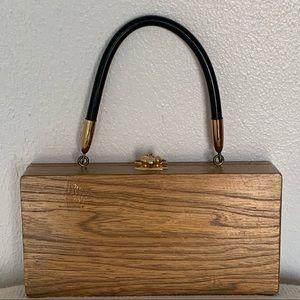 Enid Collins Bags - Vintage Enid Collins mid century Wood Box Purse